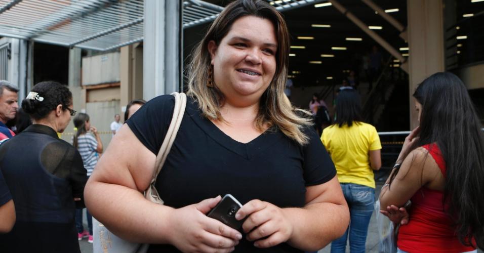 9.nov.2014 - A candidata Fabiani Fernandes, 23, quer cursar medicina e fez as provas do Enem 2014 na Uninove da Barra Funda, na capital paulista