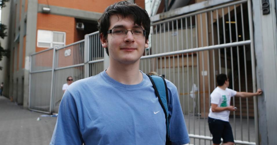 9.nov.2014 - Jonathan Kahan, 16, fez as provas do Enem 2014 na Uninove da Barra Funda, na capital paulista. Ele ainda está cursando o segundo ano do ensino médio