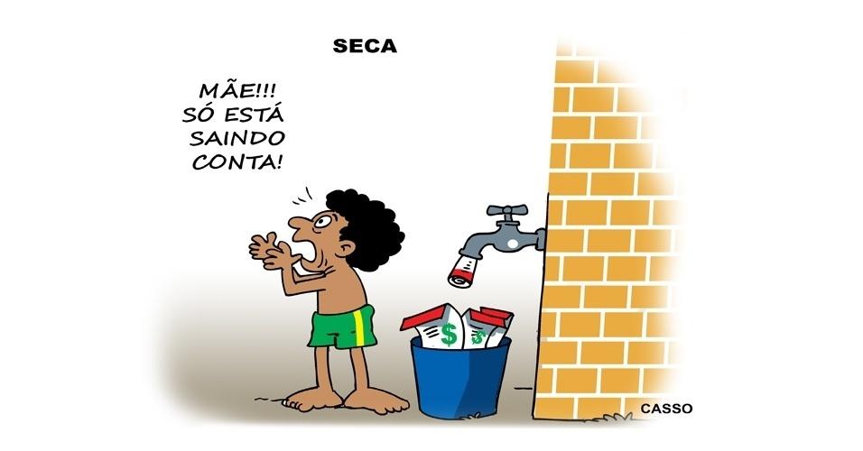 11.nov.2014 - O chargista casso ironiza a falta de água que atinge o Estado de São Paulo