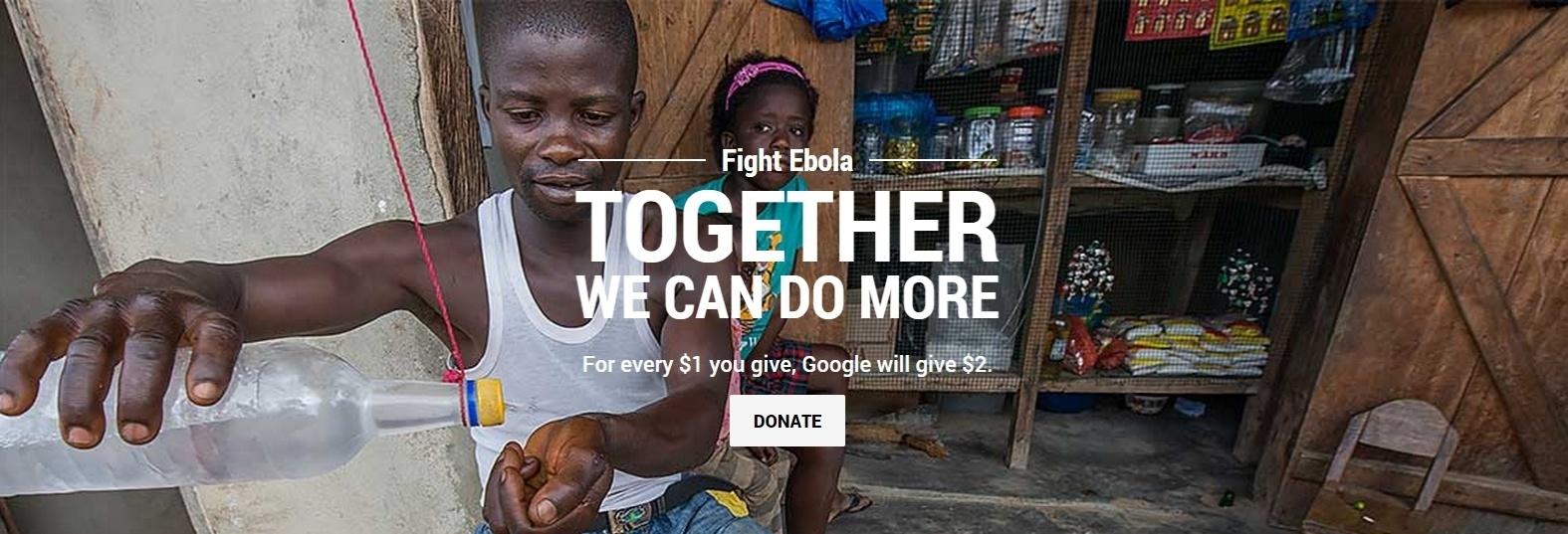 Google lança campanha de arrecadação para o ebola na África