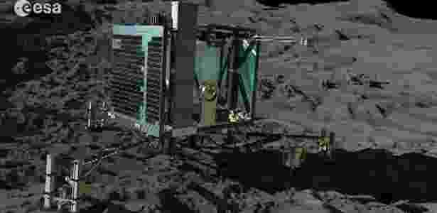 Imagem do robô Philae, que vai coletar amostras do cometa 67P - ESA/BBC