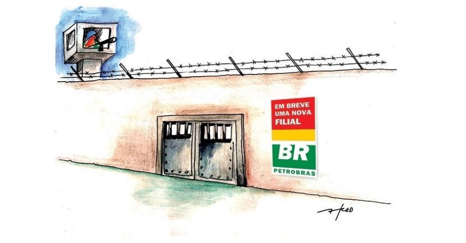 19.nov.2014 - O chargista Fred ironiza as denúncias de um esquema bilionário de lavagem e desvios de dinheiro envolvendo a Petrobras
