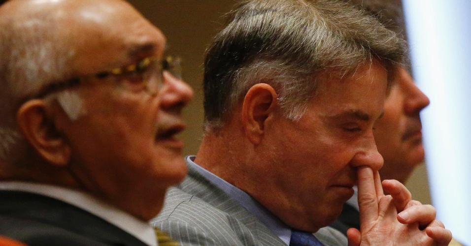 Eike durante primeira audiência de seu julgamento por crimes contra o mercado financeiro