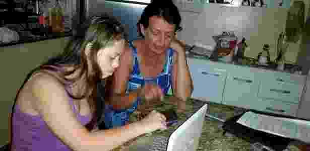 Companheiras: mãe e filha estudavam juntas - Arquivo pessoal
