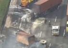 Ônibus e caminhões são queimados em atos em SP; Rodoanel é fechado - Reprodução/TV Globo