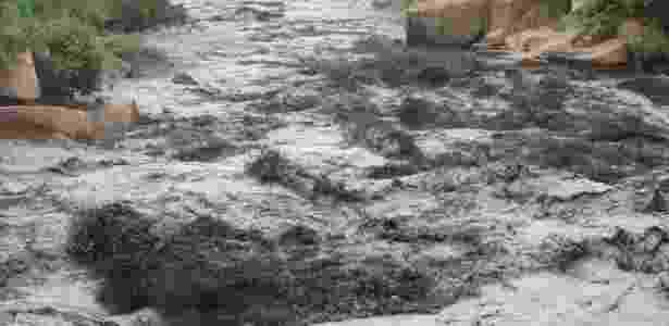Rio Tietê poluído na altura da cidade de Salto (SP) - Edemilson Santos/Jornal Estância