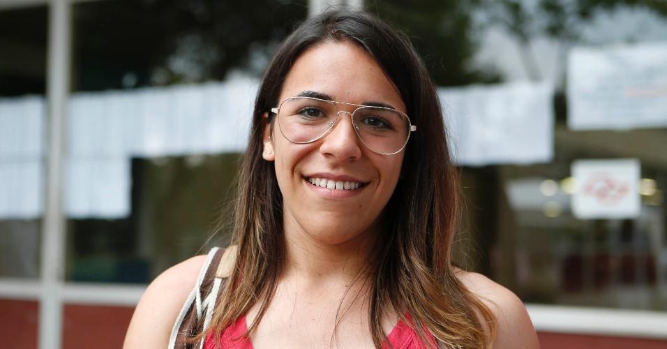 30.nov.2014 - Giovana Piovan fez a primeira fase da Fuvest 2015