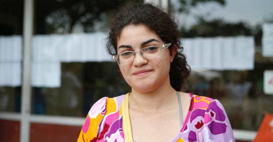 30.nov.2014 - Raquel Noronha fez a primeira fase da Fuvest 2015