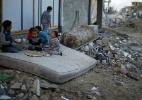 Destruição causada por bombardeios na faixa de Gaza - Mohammed Salem/Reuters