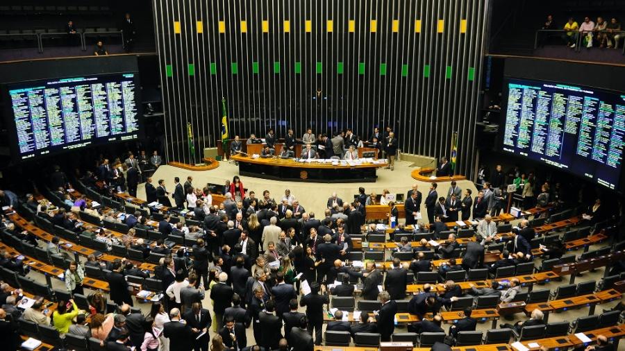 Sessão do Congresso Nacional marcada pela troca de socos, empurra-empurra e muita gritaria em 2014 - Gustavo Lima / Câmara dos Deputados