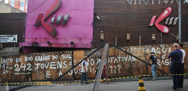 Prédio da boate Kiss, em Santa Maria (RS), onde 242 pessoas morreram