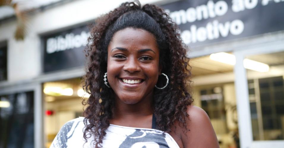 Suzana Nayla, estudante da Faculdade Zumbi dos Palmares
