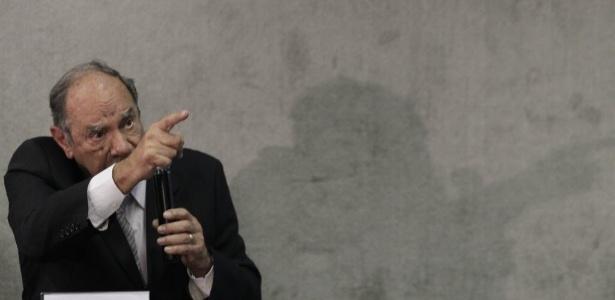 O coronel reformado e ex-comandante do DOI-CODI em SP Carlos Alberto Brilhante Ustra presta depoimento à Comissão da Verdade