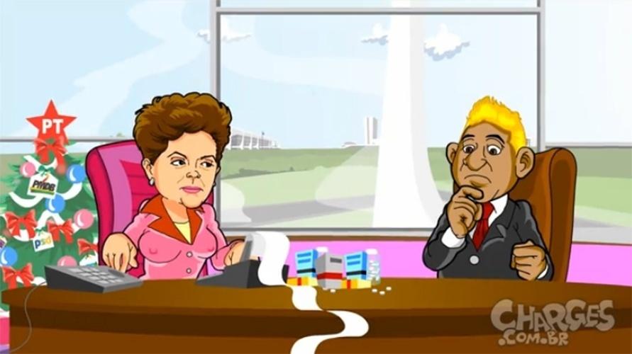 3.dez.2014 - O chargista Maurício Ricardo ironiza o decreto da presidente Dilma Rousseff (PT) que condiciona o pagamento de R$ 444,7 milhões em emendas parlamentares à aprovação do projeto que altera a meta de superávit fiscal para o Orçamento do governo federal em 2014. Assista a charge completa clicando aqui
