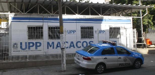 Bandidos atacaram e atiraram contra a UPP do Morro dos Macacos, em Vila Isabel, na zona norte do Rio, nas primeiras horas da manhã - Severino Silva/ Agência O Dia/ Estadão Conteúdo
