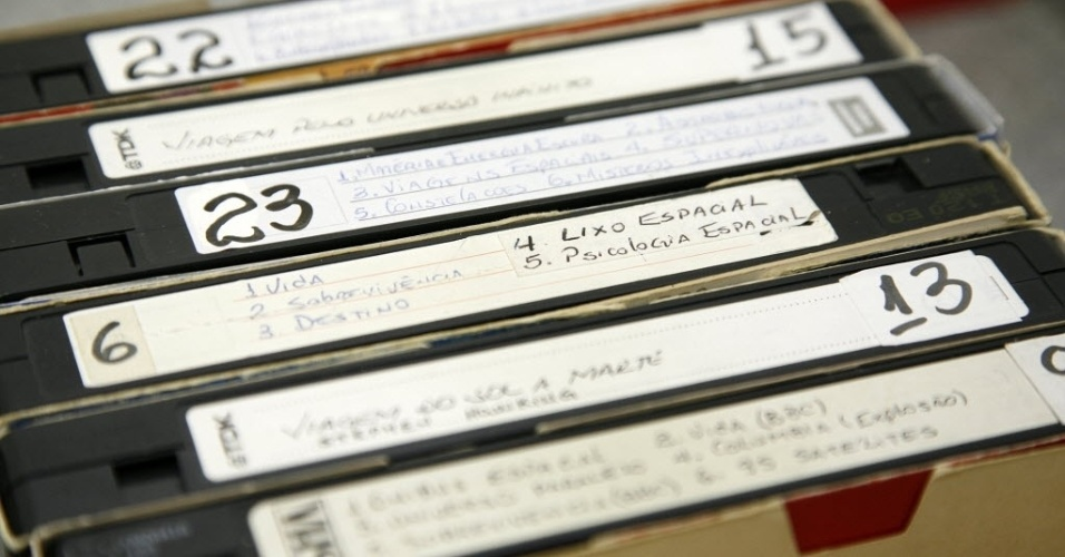 fitas de vídeo VHS
