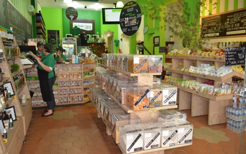 Interior da loja Nação Verde, em São Paulo, fundada pelo empresário Ricardo Cruz em 2010 e que virou franquia em 2011