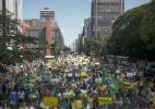 Manifestantes fazem protesto contra Dilma na Avenida Paulista - Miguel Schincariol/AFP