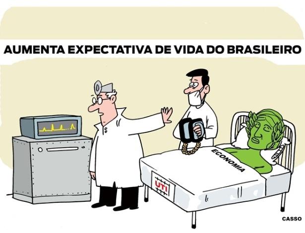 8.dez.2014 - O chargista Casso brinca com o atual estado da economia brasileira