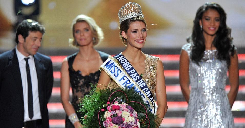 7.dez.2014 - Camille Cerf foi eleita Miss França 2015. Natural de Norte-Passo de Calais (região do norte da França), Camille vai representar o país europeu no próximo concurso Miss Universo