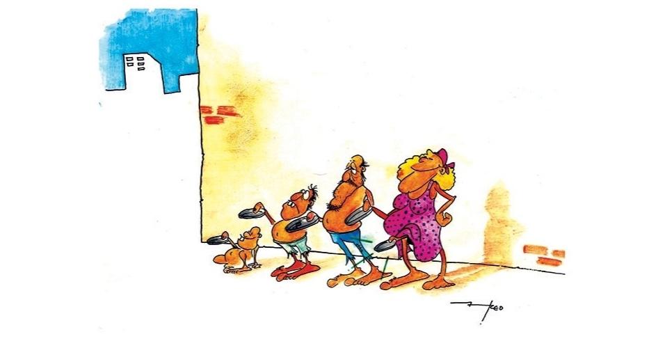 9.dez.2014 - O chargista Fred ironiza sobre a pobreza que atinge o país