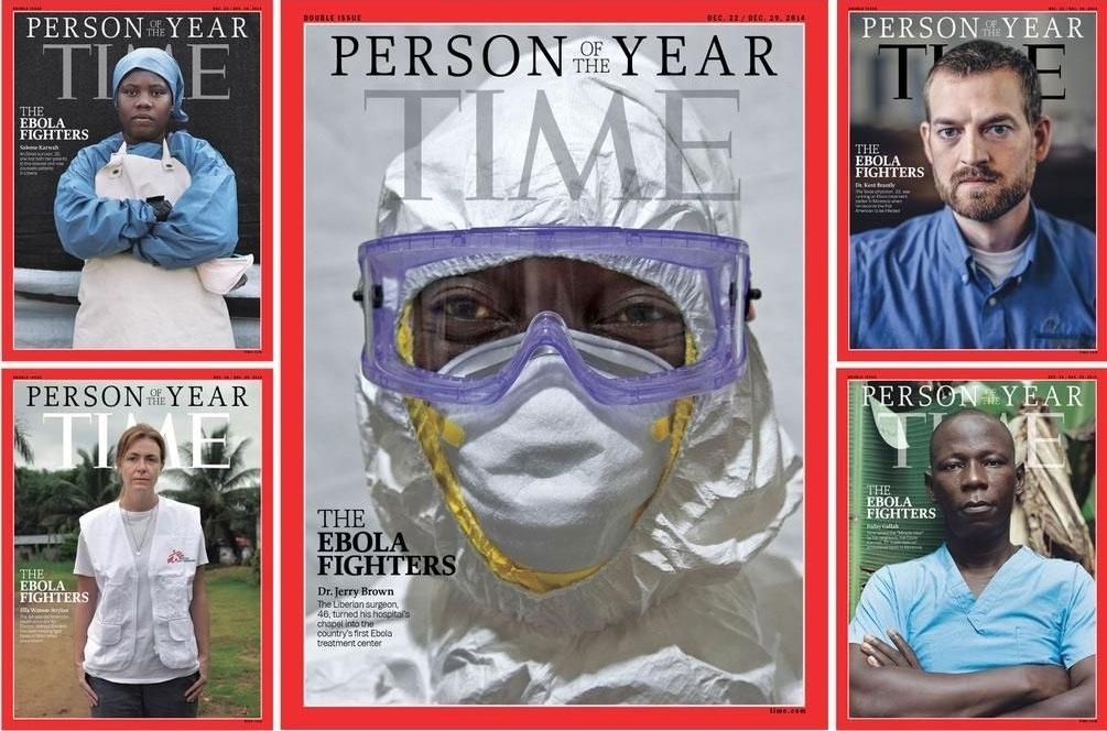 10.dez.2014 -  Os médicos, enfermeiros e demais trabalhadores do setor de saúde que combatem a epidemia de Ebola na África Ocidental foram escolhidos como