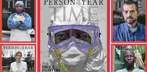 """Revista Time elege médicos, enfermeiros e trabalhadores de saúde que combatem epidemia de ebola como """"personalidade do ano de 2014"""" - Reprodução/Twitter Time"""
