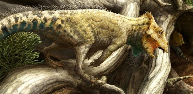 Pequeno dinossauro Aquilops americanus é o mais antigo neoceratopsian conhecido na América do Norte - Copyright Brian Engh/cortesia do Museu de Paleontologia Raymond M. Alf