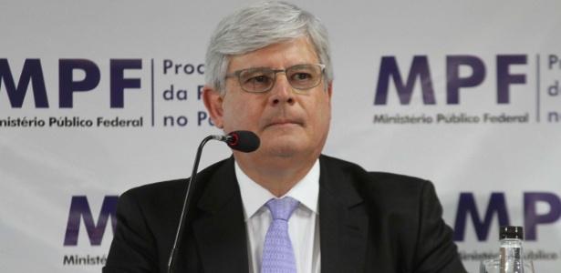 Procurador-geral da República, Rodrigo Janot, durante entrevista coletiva sobre a Operação Lava jato - Vagner Rosario/