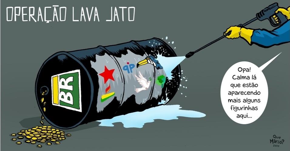 15.dez.2014 - O chargista Que Mário? critica a participação de diversos partidos políticos na Operação Lava Jato