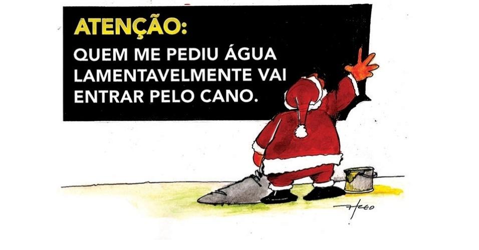 17.dez.2014 - O chargista Fred ironiza a crise hídrica que afeta a região sudeste do Brasil
