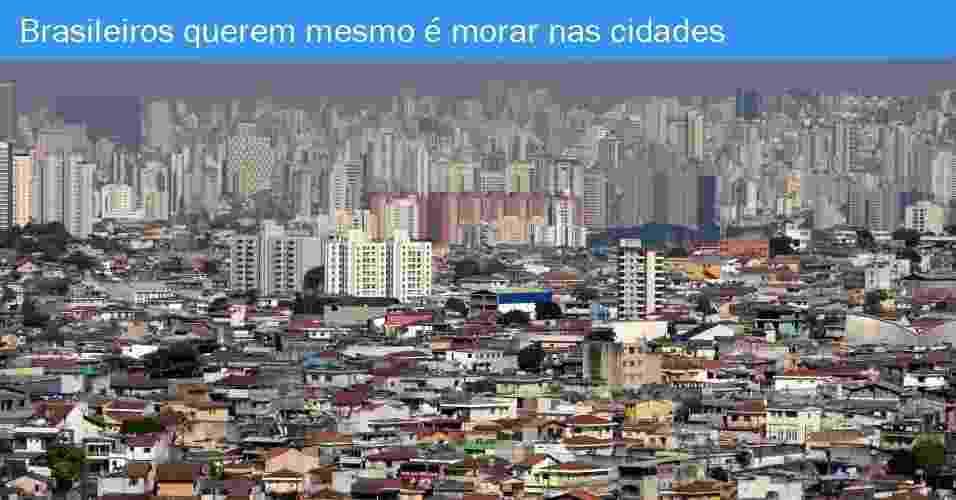 Em 2013, o número de domicílios particulares permanentes foi de 65,3 milhões, sendo que 55,9 milhões estavam localizados em áreas urbanas. Isso significa que 85,6% dos domicílios estão localizados em cidades. O número médio de moradores por domicílio foi de 3,1. Na região Norte, eram 3,6 pessoas por domicílio em 2013. No Amazonas estava a média mais alta, de 3,9 pessoas por domicílio, seguido por Amapá, com 3,8 pessoas. A menor proporção está no Rio Grande do Sul, 2,8 pessoas por domicílio - Fabio Braga/Folhapress