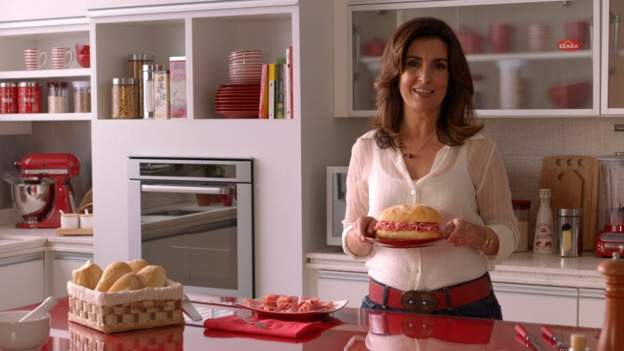 A jornalista e apresentadora Fátima Bernardes em comercial da Seara - Reprodução