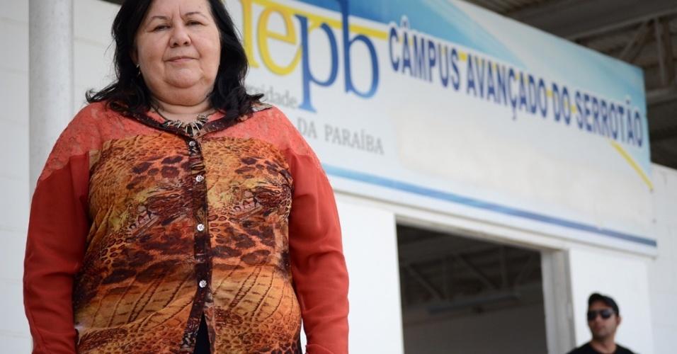 """Aparecida Carneiro é coordenadora do Campus Serrotão da UEPB (Universidade Estadual da Paraíba). Ela destaca como primordial ações de educação para ressocialização dos presos: """"Agora eles podem planejar um novo recomeço"""""""