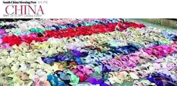 A polícia encontrou cerca de 2.000 conjuntos de roupas íntimas na casa do suspeito - Reprodução/South China Morning Post