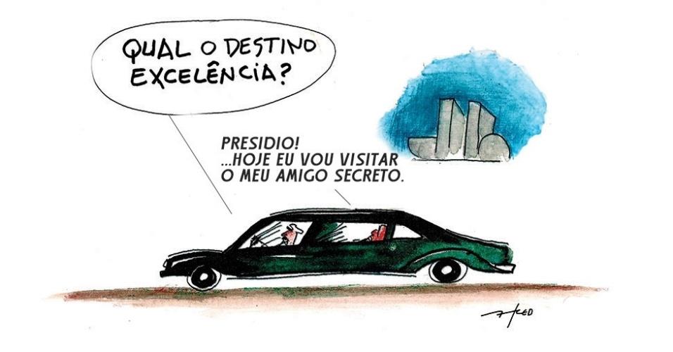 24.dez.2014 - Neste Natal, o chargista Fred prevê um amigo secreto diferente por causa do escândalo envolvendo a Petrobras e a divulgação de nomes de parlamentares que estariam envolvidos na corrupção