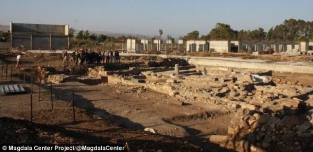 A sinagoga foi descoberta durante as escavações para a construção de um hotel  - Reprodução/Magdala Center Project