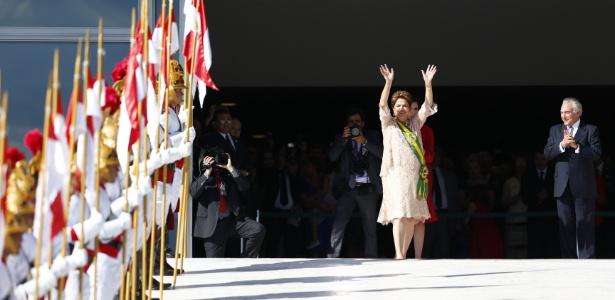 A presidente Dilma durante a cerimônia de posse do segundo mandato, em 1º de janeiro - Fabio Braga/Folhapress