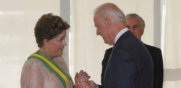 Autoridades internacionais cumprimentam presidente Dilma - Alan Marques/ Folhapress