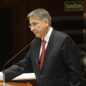 Fernando Pimentel (PT) durante cerimônia de posse do governo de Minas Gerais