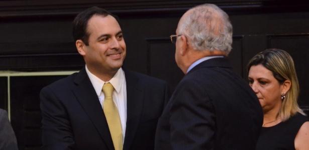 O governador de Pernambuco, Paulo Câmara (PSB), ao tomar posse no Palácio Joaquim Nabuco