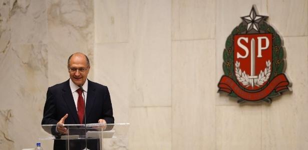 Geraldo Alckmin ao tomar posse em 2015