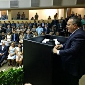 Pedro Taques ao assumir o governo do Mato Grosso