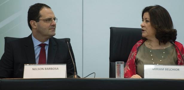 Nelson Barbosa assume o Ministério do Planejamento, comandado desde 2011 por Miriam Belchior, em cerimônia de transição, nesta sexta-feira (2), em Brasília - Marcelo Camargo/Agência Brasil