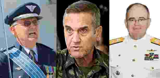 O brigadeiro Nivaldo Luiz Rossato, na Aeronáutica (à esquerda.); o general Eduardo Villas Bôas, no Exército (centro); e o almirante Eduardo Bacellar Leal Ferreira, na Marinha (à direita), são os novos comandantes das Forças Armadas - Agência Força Aérea/ESG/Joel Rosa/Em Tempo