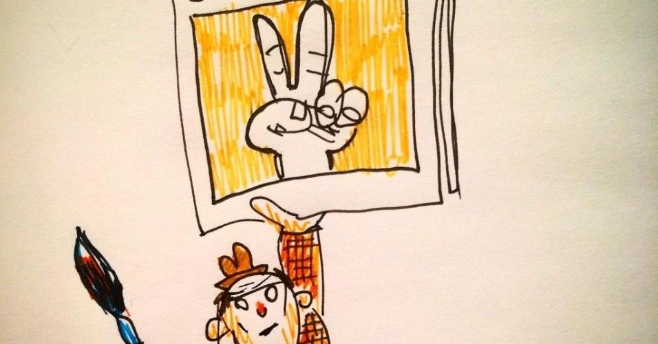 7.jan.2015 - O quadrinista argentino Liniers fez uma charge nesta quarta-feira (7) para homenagear os mortos no ataque à sede da revista 'Charlie Hebdo' em Paris, França. Homens armados abriram fogo ao escritório e mataram ao menos 12 pessoas, entre elas os cartunistas Jean Cabut, Stephane Charbonnier, Georges Wolinski e Bernard Verlhac. Não há informações sobre quem seriam os atiradores e o que os motivou, mas a revista já publicou ilustrações satíricas sobre líderes muçulmanos e foi ameaçada por divulgar caricaturas de Maomé há três anos