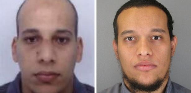 Cherif (esq.) e Said Kouachi são suspeitos de terem matado 12 pessoas na sede da ''Charlie Hebdo''