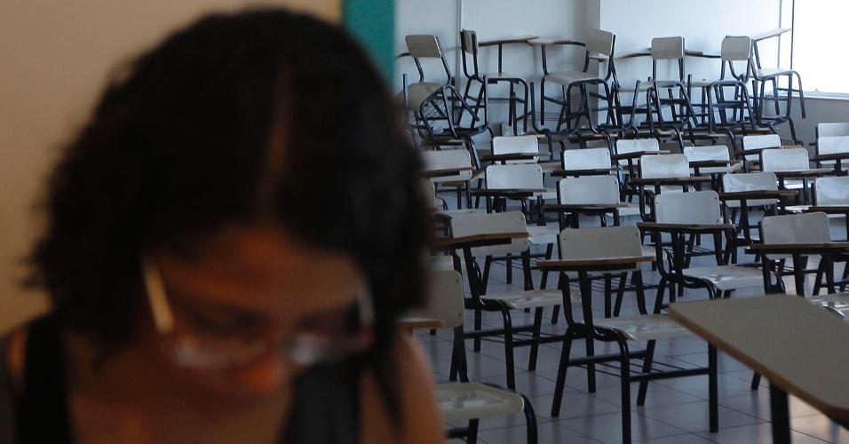 11.jan.2015 - Candidatos começam a entrar em sala para o início da segunda fase do vestibular 2015 da Unicamp (Universidade Estadual de Campinas). As provas começam neste domingo (11) e vão até terça-feira (13). São esperados 15.444 candidatos para esta etapa do processo seletivo