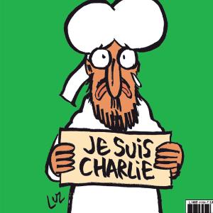 """Capa da 'Charlie' traz Maomé dizendo: """"Sou Charlie"""" - Reprodução/Twitter/@libe"""