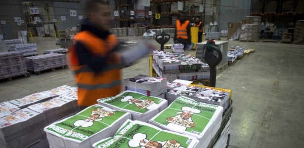 """A próxima edição da """"Charlie Hebdo"""" - Martin Bureau/AFP"""